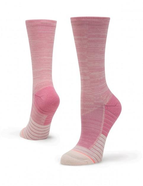 Stance Circuit Crew Crew Socks in Pink