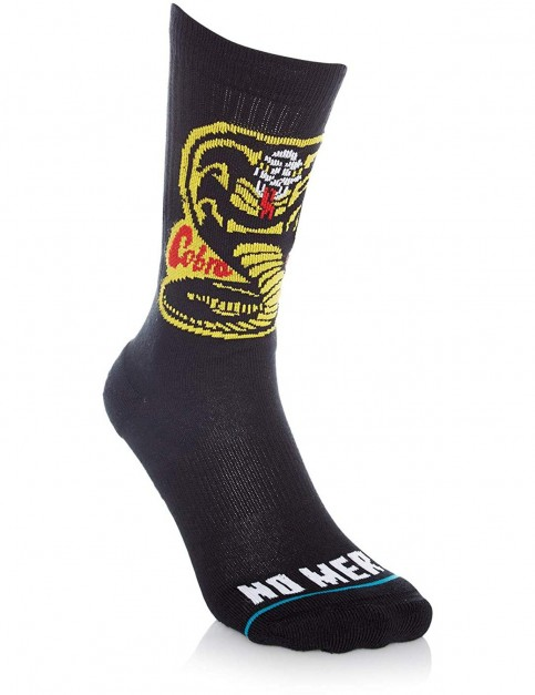 Stance Cobra Kai Crew Socks in Black
