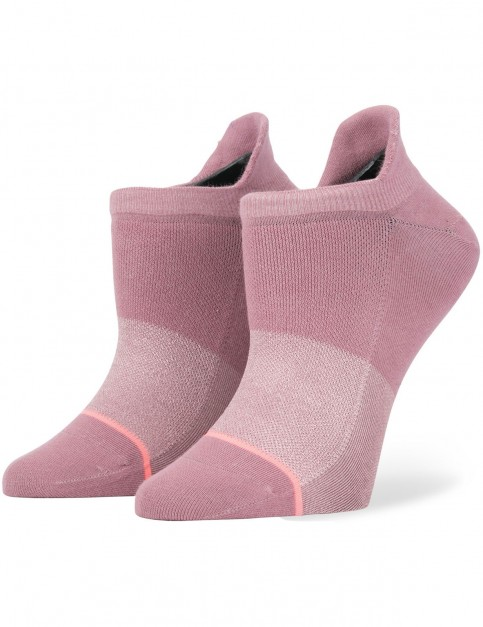 Stance Committed Crew Socks in Rose Smoke