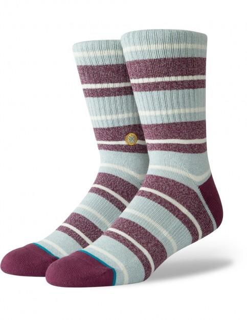 Stance Cope Crew Socks in Maroon