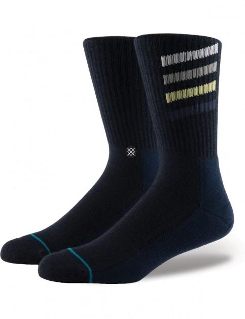 Stance Croton Crew Socks in Navy