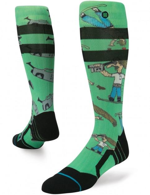 Stance Dad Cam (Chris Grenier Pro Model) Snow Socks in Green