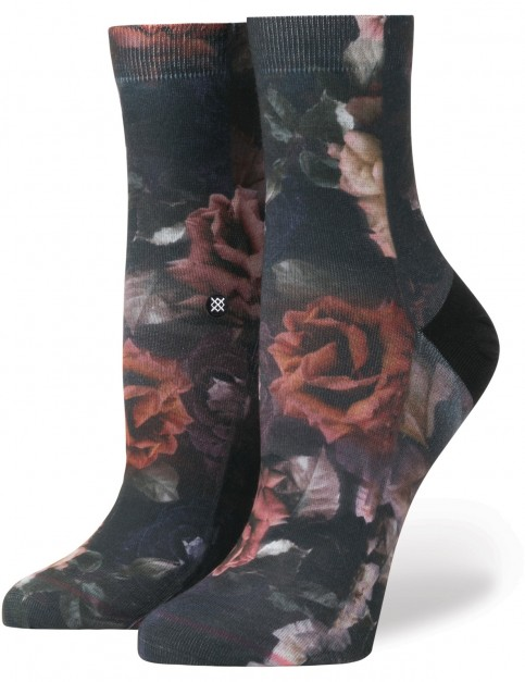 Stance Dark Bloom Anklet Crew Socks in Black