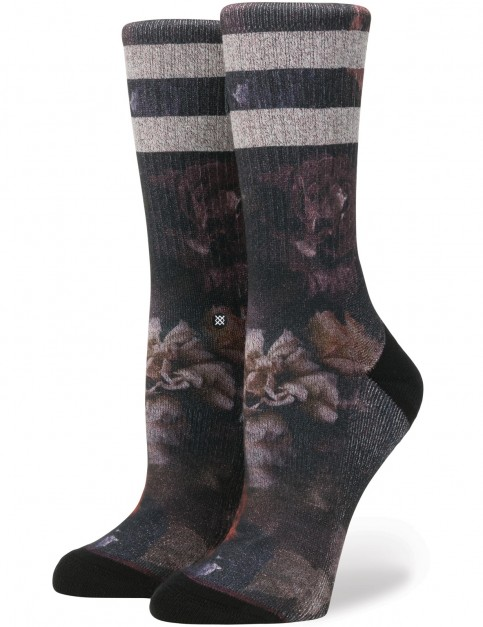 Stance Dark Blooms Crew Socks in Black