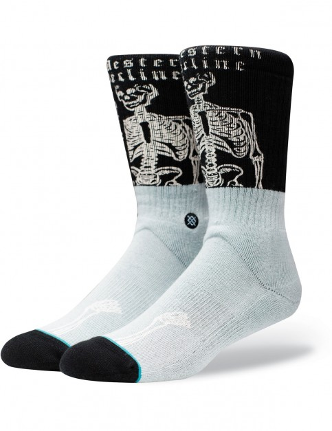 Stance Decline Crew Socks in Black