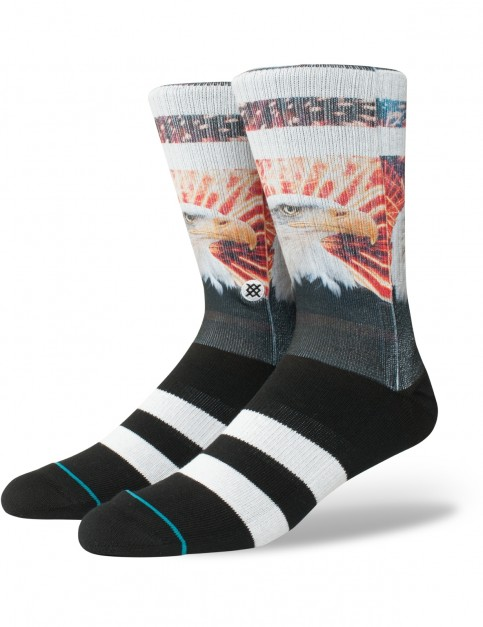 Stance Defender Crew Socks in Black