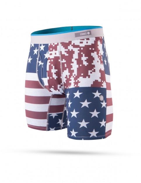 Stance Digi Camo Flag Underwear in Red