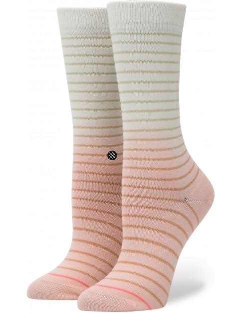 Stance Dip-Toe Tomboy Crew Socks in Pink