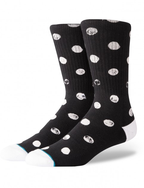 Stance Dot Vibes Crew Socks in Black
