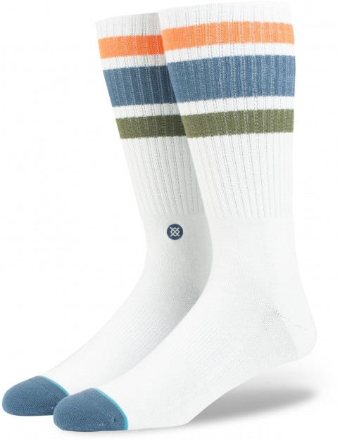 Stance Downhill M Crew Socks in White