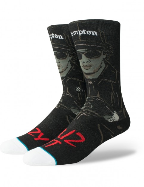 Stance Eazy Duz It Crew Socks in Black