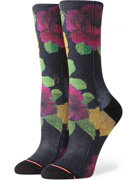 Stance Evening Star Crew Crew Socks in Black