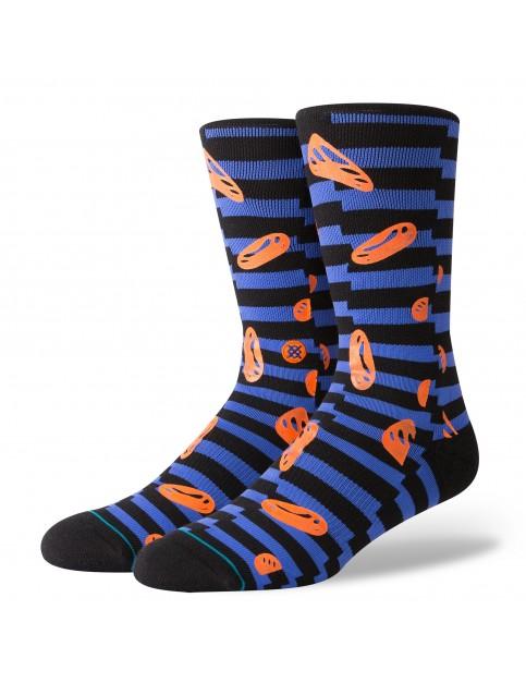 Stance Face Melt Crew Socks in Blue