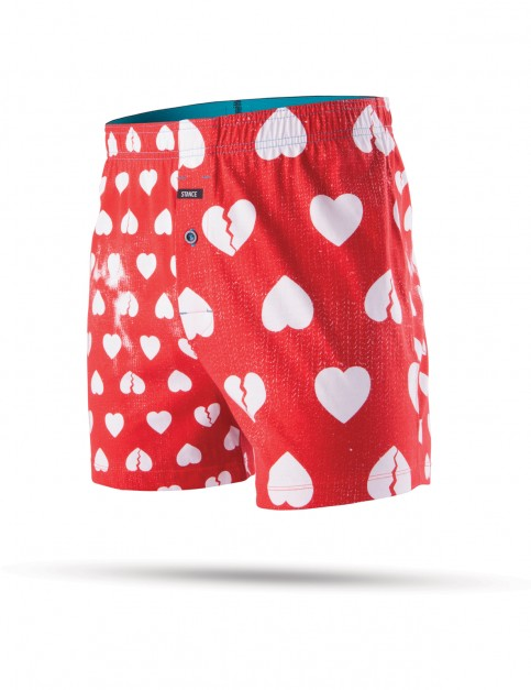 Stance Faded Hearts Underwear in Red