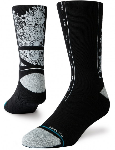 Stance Fields Crew Socks in Black