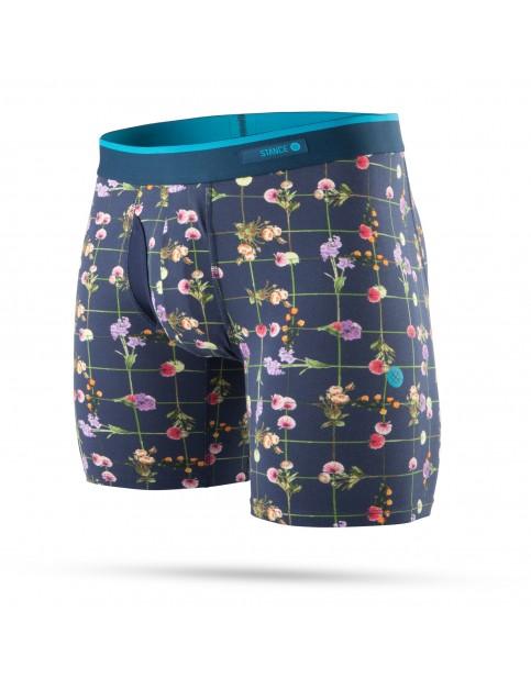 Stance Flower Grid Underwear in Navy