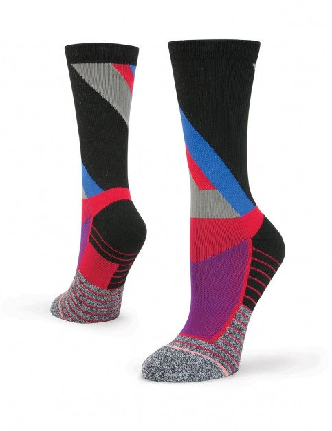 Stance Focus Crew Crew Socks in Red