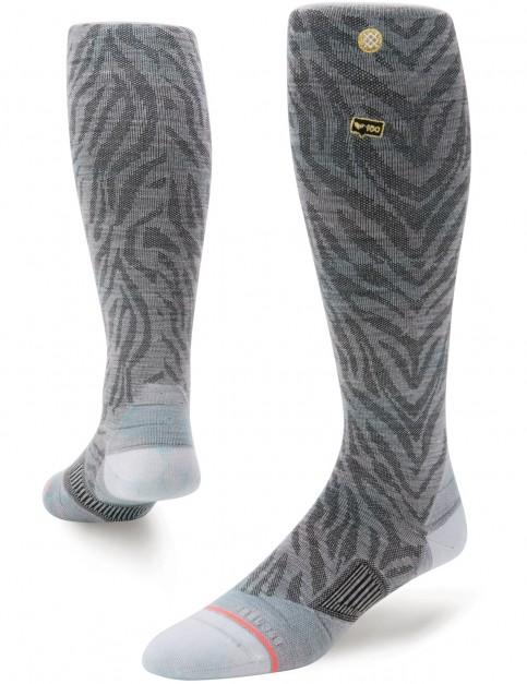 Stance Follow Snow Socks in Grey