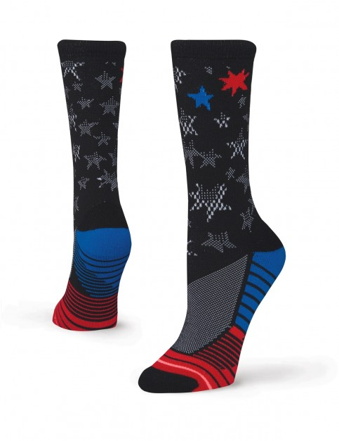 Stance Forever Free Crew Socks in Black