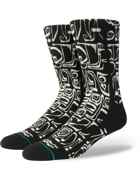 Stance Frost Letters Crew Socks in Black