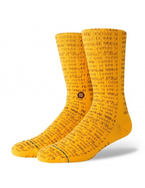 Stance Futures Crew Socks in Gold
