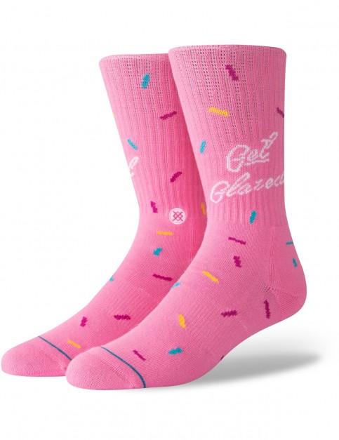 Stance Glazed Crew Socks in Pink