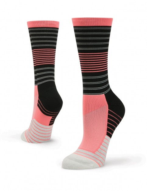 Stance Goals Crew Crew Socks in Coral