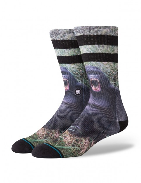 Stance Gorilla Crew Socks in Black