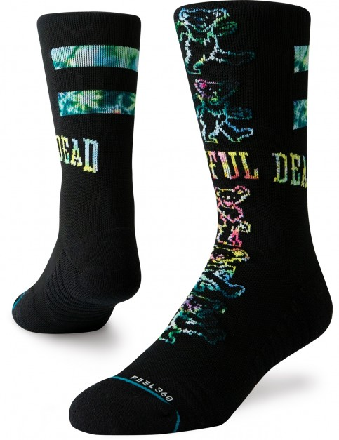 Stance Grateful Bears Crew Socks in Black