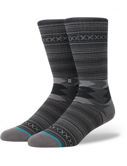 Stance Guadalupe Crew Socks in Charcoal