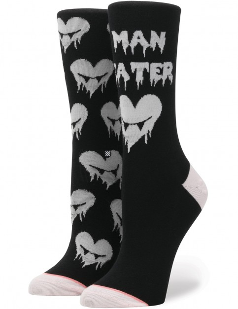 Stance Hangry Crew Socks in Black