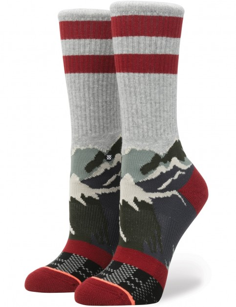Stance Happy Camper Crew Socks in Grey Heather