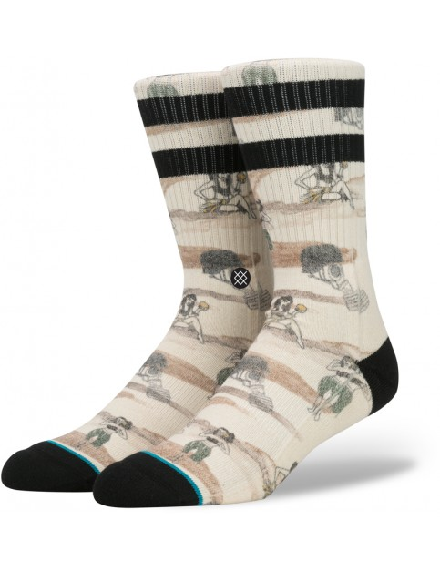 Stance Hickman Socks in Off White