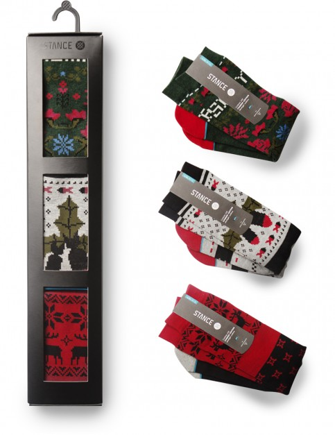 Stance Holiday Gift Box 3 Pack Socks in Patterned
