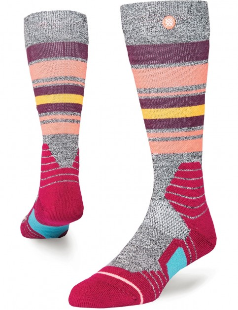 Stance Hot Creek Snow Socks in Wine