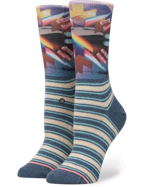 Stance Hoy Crew Crew Socks in Blue