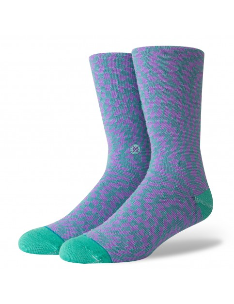 Stance Hysteria Crew Socks in Teal