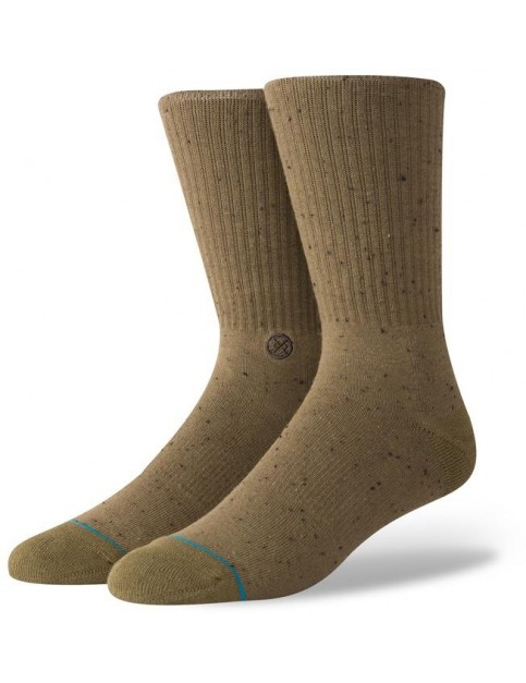 Stance Icon 2 Crew Socks in Olive