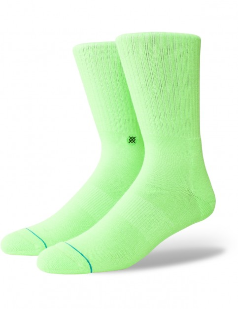 Stance Icon Anthem Crew Socks in Florescent Green