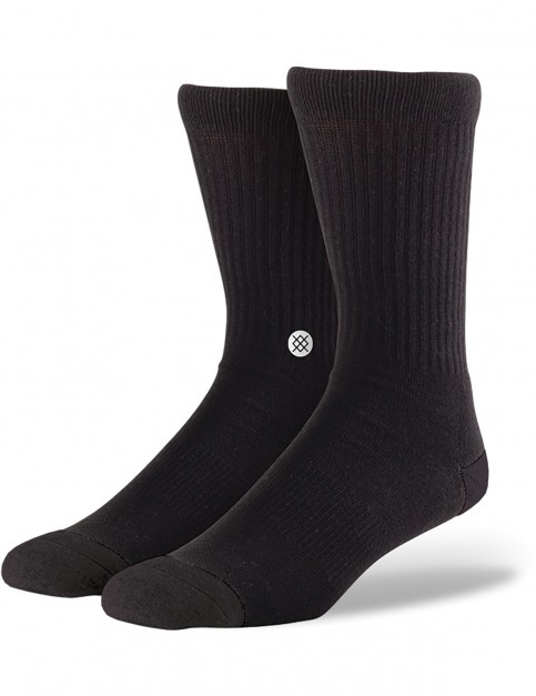 Stance Icon Crew Socks in Black/White