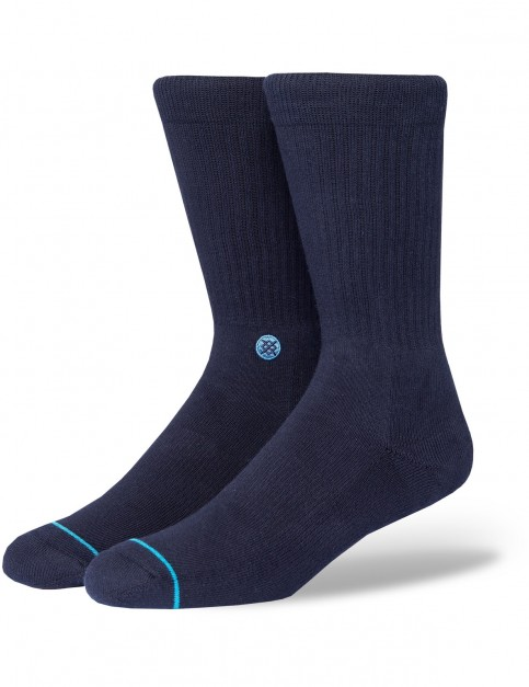 Stance Icon Crew Socks in Dark Navy