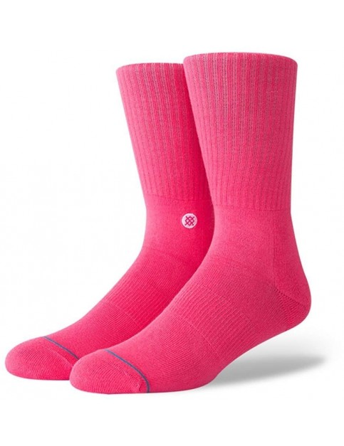 Stance ICON Crew Socks in Neon Pink