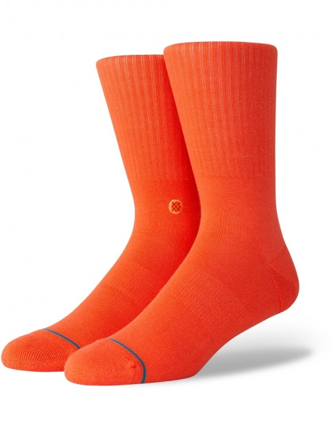 Stance Icon Crew Socks in Royal Red