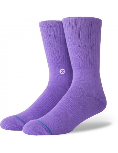 Stance Icon Crew Socks in Violet