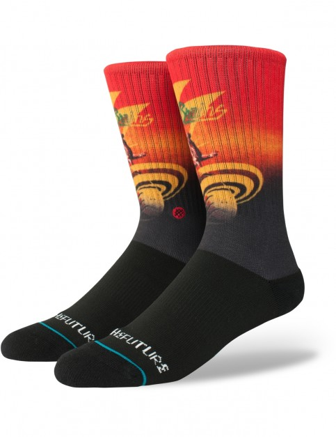 Stance Into The Future Crew Socks in Black
