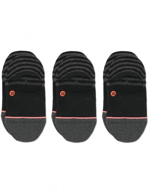 Stance Invisible 3 Pack No Show Socks in Black