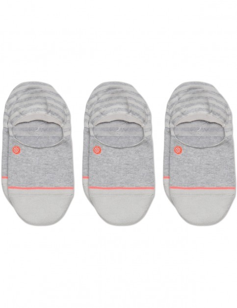 Stance Invisible 3 Pack No Show Socks in Grey