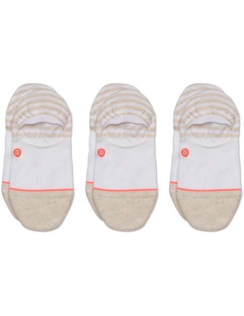 Stance Invisible 3 Pack No Show Socks in White