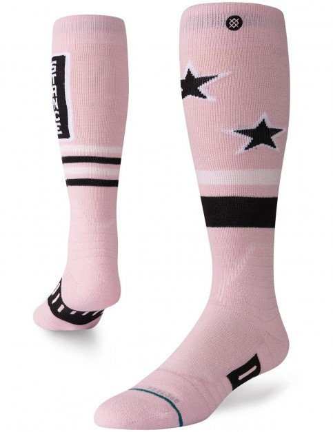 Stance Issue Snow Socks in Pink