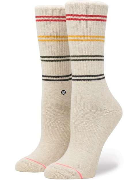 Stance Jah Crew Crew Socks in Oatmeal Heather